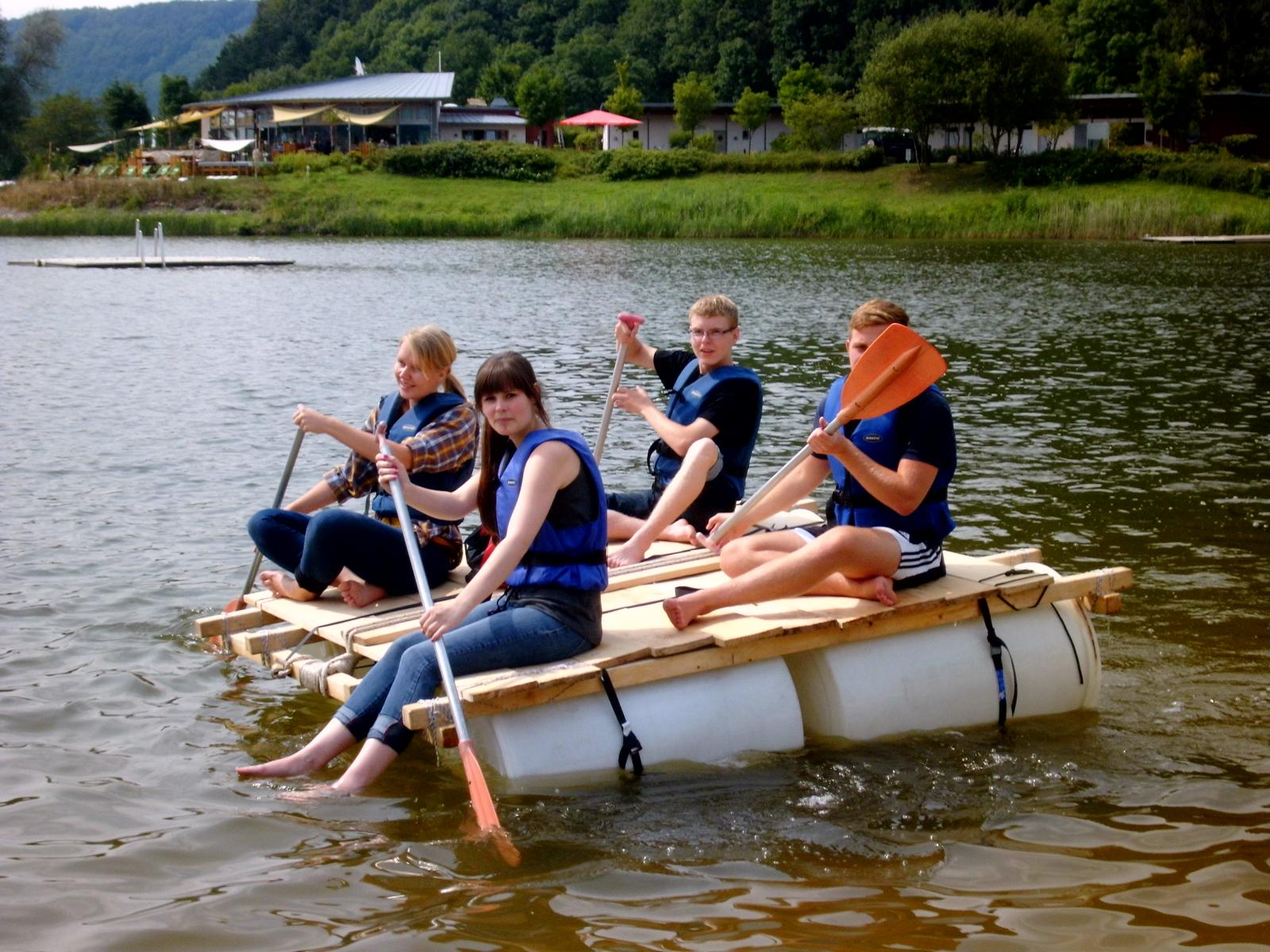 floßbau - krome kanu