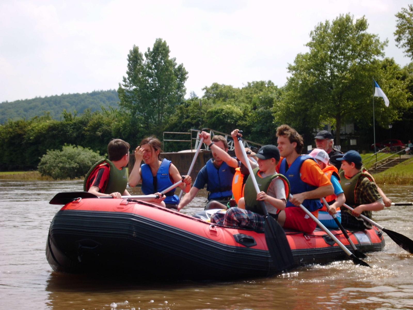 schlauchboote zum rafting
